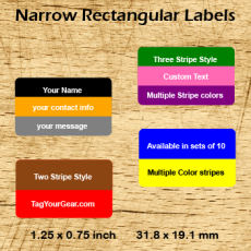 Narrow Rectangular Labels
