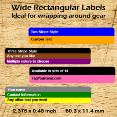 Wide Rectangular Labels